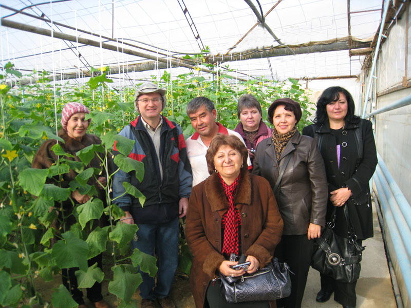 Visit of greenhouse