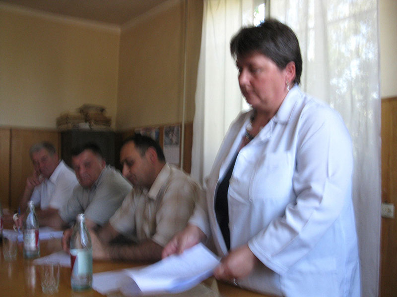 National coordinator Nato Kakabadze presents trials results