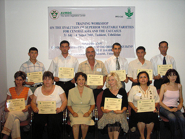 CAC Regional Training Course in 2006. Yang specialists received certificates